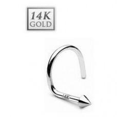 Zlatý piercing do nosa - špička, Au 585/1000 - Akcia!